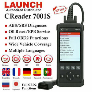 Launch Automotive Obd2 Code Reader Scanner Car Diagnostic Scan Tool Brake Reset