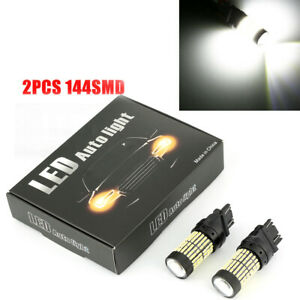 2pcs 144smd 3157 3156 Led Reverse Bulb Backup Signal Light 6000k For Chevrolet