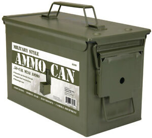 .50 Cal Metal Ammo Can Military Ammunition Ammo Boxes Box Caliber New