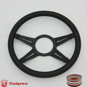 14 Black Billet Steering Wheels Ford Gm Corvair Impala Chevy Ii