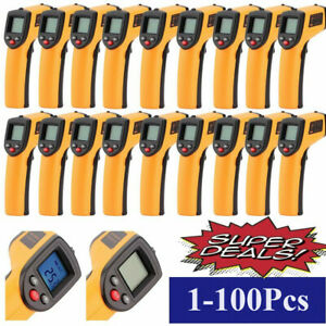 1 100pcs Temperature Gun Non contact Infrared Ir Digital Thermometer Lot Br
