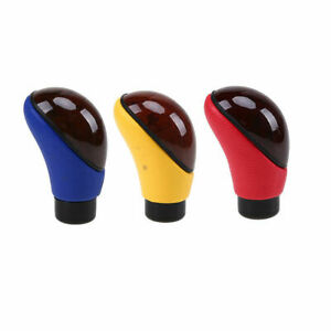 Pu Leather Automatic Manual Car Truck Gear Shift Knob Shifter Lever Cover Handle