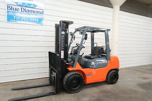 2006 Toyota Forklift 7fgu30 6 000 Pneumatic Lp Gas Three Stage Sideshift