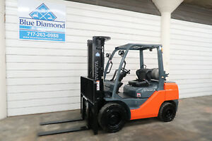 2012 Toyota 8fgu30 6 000 Pneumatic Tire Forklift Lp Gas 3 Stage S s Nice
