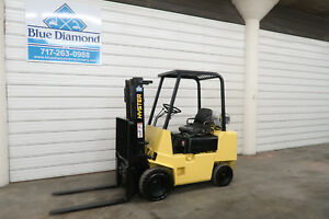 Hyster H35xl 3 500 Pneumatic Tire Forklift Lp Gas 3 Stage Sideshift Forks