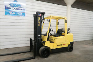 Hyster S100xm 10 000 Cushion Tire Forklift Lp Gas Triple Sideshift Low Hrs