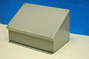Hoffman Sloping Front Control Instrument Junction Box Enclosure Cover 7 5 x11
