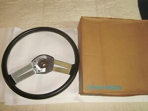 Nos 1978 79 Oldsmobile Cutlass W30 Hurst Olds Black Sport Steering Wheel 9759472