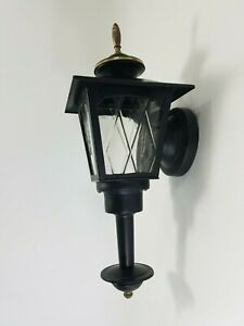 Vintage Metal Porch Wall Sconce Lantern Black Gold Light Fixture Porch Patio