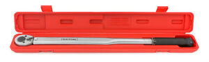 1 2 In Drive Click Torque Wrench 25 250 Ft lb Tekton with Storage Case
