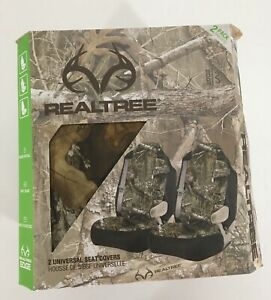 Real Tree Camo Universal Seat Covers Quick Install Safe 2 Pack Fits Most New Nib