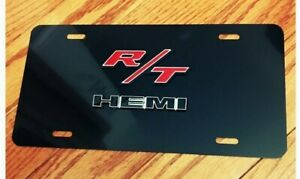 Dodge Mopar Rt Hemi 3d License Plate Custom New Aluminum Black Chrome Mopar