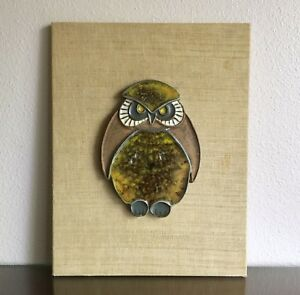 Rare Early Jaru Pottery Owl Wall Hanging 1960s Vintage California Modernism Mcm