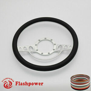 15 5 Billet Steering Wheel Black Half Wrap Malibu Cutlass Impala Chevy