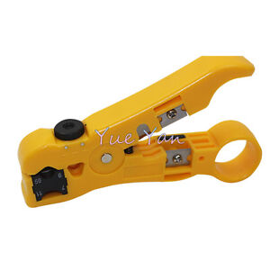 Cable Stripper Coax Stripping Tool Rg59 6 7 11 Reversible Cassette Cable Cutter