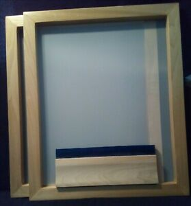 2 Silk Screen Frames 24 X 20 160 Mesh Squeegee