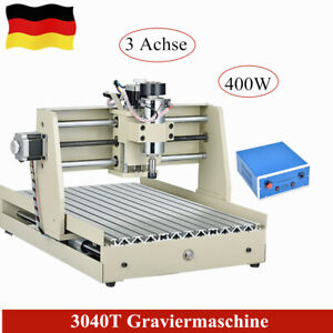 3 Axis 400w Cnc 3040 Router Engraver Engraving Milling Drilling Carving Machine