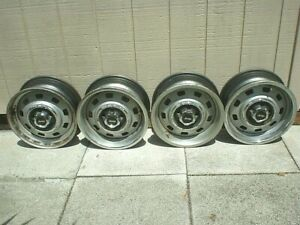 1984 1985 1986 1987 Jeep Cherokee 15 X 6 Wheels 9 Hole Slotted W Caps Set Of 4
