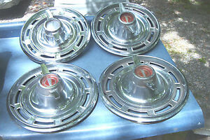 Oem Set Of 4 14 Inch Spinner Wheelcovers 1966 Buick Special skylark 1996