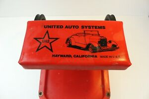 Vintage United Auto Systems Creeper Seat Mechanic Garage Man Cave Usa Made