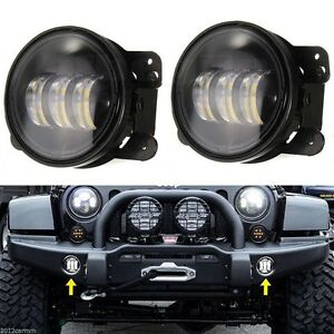 2pcs 4inch 30w Led Fog Lights For Jeep Wrangler 97 15 Jk Tj Lj Off Road Fog Lamp
