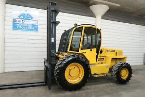 Sellick S 80 8 000 Rough Terrain Forklift 4x4 Drive Triple Sideshift Cab