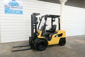 2012 Cat 2pd6000 6 000 Diesel Forklift Dual Wheels Three Stage S s