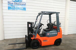 Toyota 7fgcu20 4 000 Cushion Tire Forklift Sideshift Lp Gas