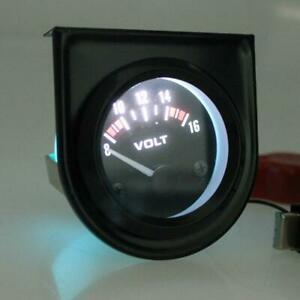52mm Universal 2 Car Mechanical Volt Voltmeter Voltage Meter Gauge 8 16v B W Y