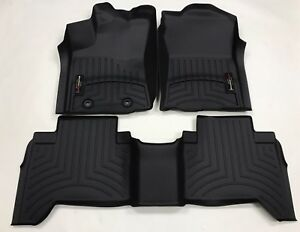 Weathertech Floorliner For Toyota Tacoma Double Cab 2016 2017 Black
