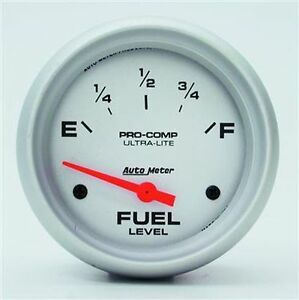 Autometer Ultra lite Electric Universal Gm Chevy Fuel Level Gauge 2 5 8 67mm