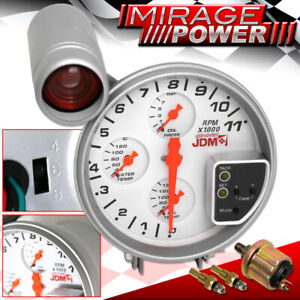 For Lexus Turbo Super Charger 4in1 Gauge Tachometer Cluster White Oil Water Temp