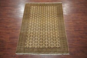 7x9 Antique Turkoman Persian Area Rug Hand Knotted Oriental Wool 6 7 X 9 3