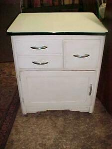 Depression Era Porcelain Top Kitchen Cabinet With Bread Drawer
