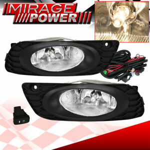 For 2012 Honda Civic 4 Door Models Driving Clear Bumper Fog Lights Replacement