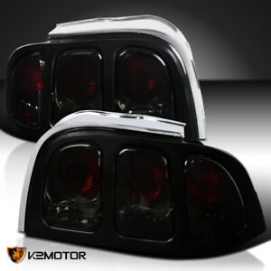Fit 1994 1998 Ford Mustang Rear Brake Tail Lights Smoke Left Right Replacement