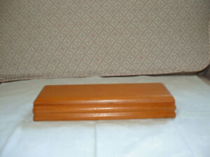 Hinged Light Brown Wood Pencil Box Good Quality Well Made Unused