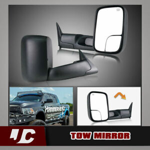 2pcs Left right For 1998 2001 Dodge Ram 1500 2500 3500 Power heated Tow Mirrors