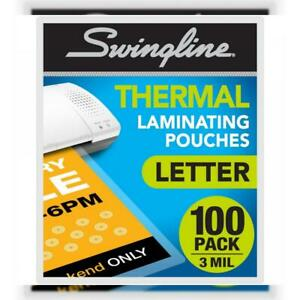 Swingline Thermal Laminating Sheets Pouches Letter Size Pouch Standard