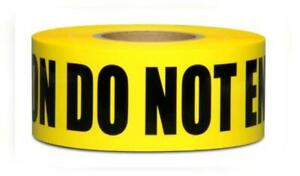 Yellow Caution Do Not Enter Barricade Tape 3 X 1000 Bright With A Bold