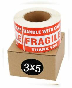Sjpack Fragile Stickers 3 X 5 1 Roll 500 Labels Handle With Care