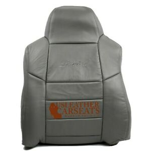 2002 Ford Excursion Limited Driver Lean Back Replacement Leather Seat Cover Gray