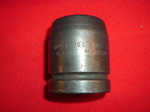 Vintage Proto 10013ss Steel Impact Socket 1 Drive 13 16 4 Point Square Budd