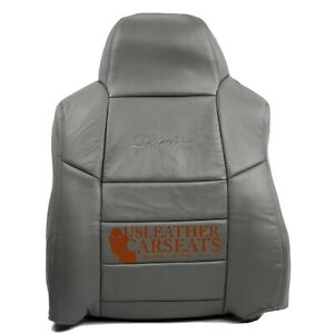 2002 03 04 Ford Excursion Limited Passenger Lean Back Leather Seat Cover Gray