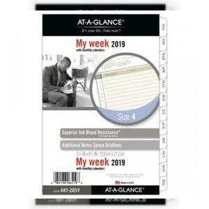 At a glance 2019 Weekly Monthly Planner Refill Day Runner 5 1 2 X