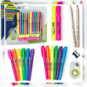 Mr Pen 18 Pc Highlighter Set 6 Gel Bible Non Bleed Assorted Color 6