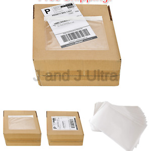 7 5 X 5 5 Clear Adhesive Top Loading Packing List shipping Label Envelopes