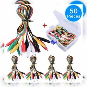 Eaone 50 Pieces Test Leads Set With Alligator Clips Double end Jumper Wire