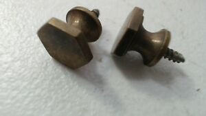 2 Vintage Brass Drawer Pull Knob Hexagon Screw In 55 14 2mm X 41 10 7mm