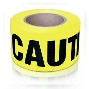 Xfasten Caution Tape Roll Non Adhesive 3 inch X 1000 foot Yellow Black